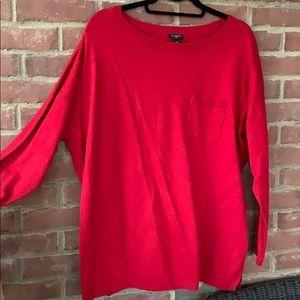 Talbots red crew sweater